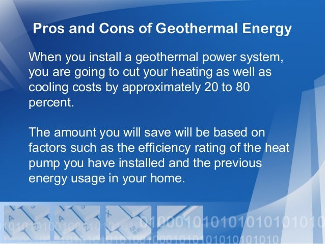the characteristics benefits and drawbacks of geothermal energy systems Geothermal energy refers to the production of each type of energy has unique characteristics and requires different technologies back to the energy systems.