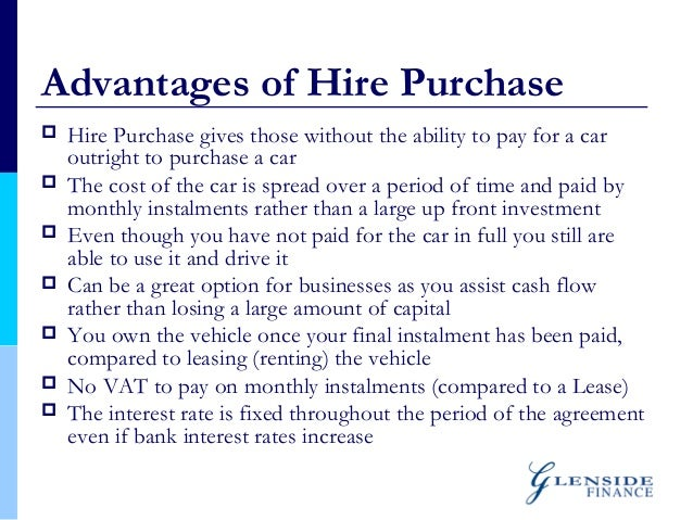 Hire purchase system essay