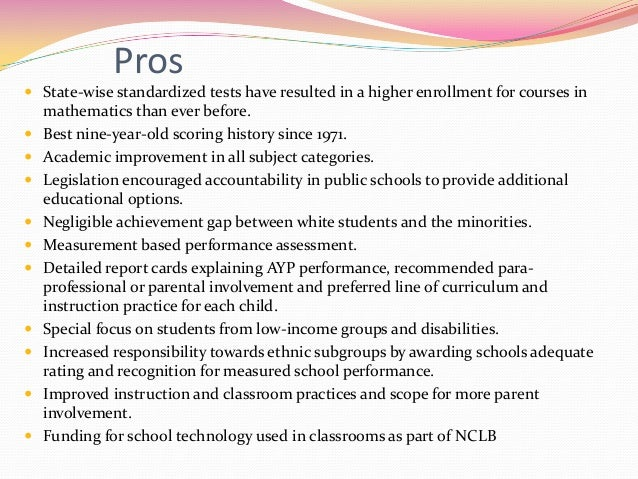 Pros and Cons of Standardized Testing