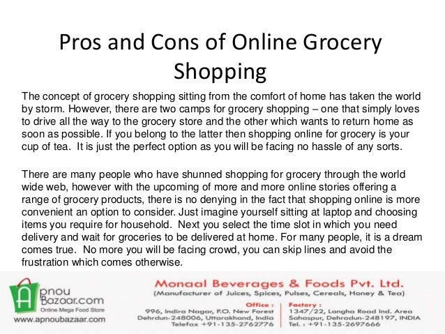 The pros and cons of shopping