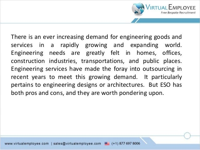 Pros and cons of outsourcing engineering services