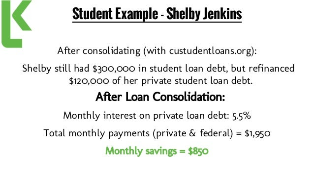 Custudentloans consolidating student loans
