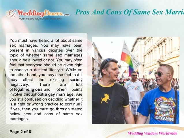 Negatives of same sex marriage