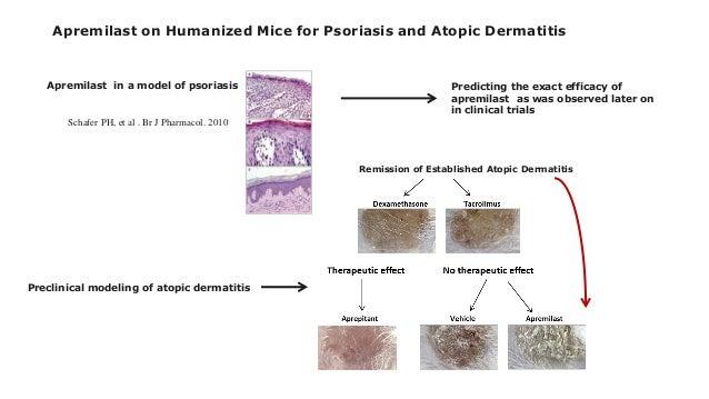 Schafer PH, et al . Br J Pharmacol. 2010 Apremilast in a model of psoriasis Preclinical modeling of atopic dermatitis Apre...