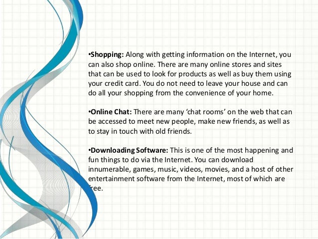 pros and cons of using internet essay Using the internet offers many advantages for example, all of the latest information is available to you, in your home, at any hour of the day or night it is much faster and easier to surf the net in search of information from all over the world than to travel to libraries in dozens of countries.