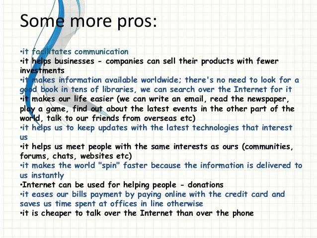 essay on benefits of internet