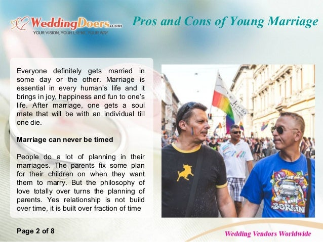 pros and cons of child marriage