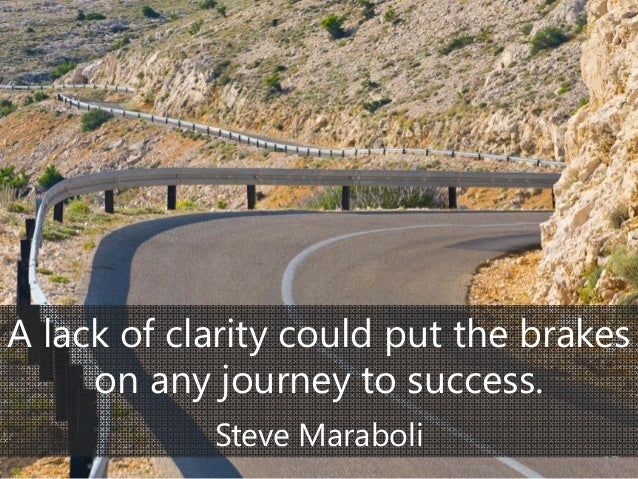 © Prosci Inc. All rights reserved. A lack of clarity could put the brakes on any journey to success. Steve Maraboli 17