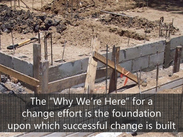 """© Prosci Inc. All rights reserved. The """"Why We're Here"""" for a change effort is the foundation upon which successful change..."""