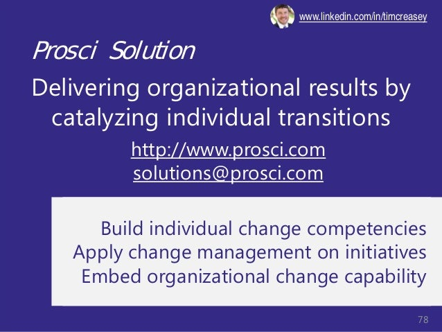 © Prosci Inc. All rights reserved. Prosci Solution Delivering organizational results by catalyzing individual transitions ...
