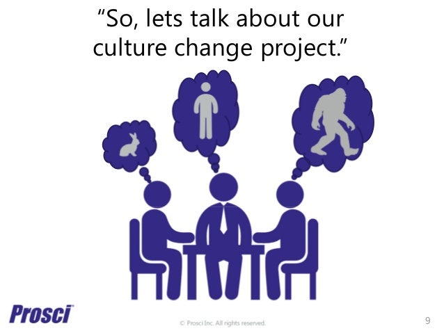 """© Prosci Inc. All rights reserved. """"So, lets talk about our culture change project."""" 9"""