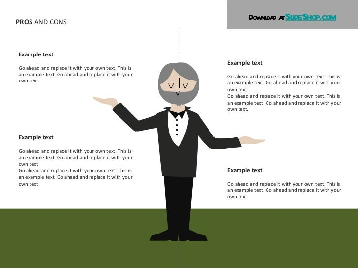 pros & cons illustrations, Powerpoint templates