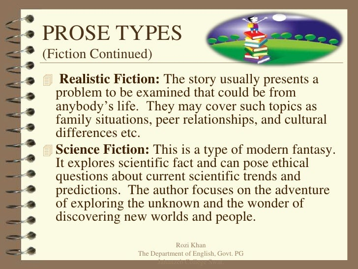 elements of prose Glossary of critical terms for prose elements such as plot and character detective and science fiction, for example, are subgenres.