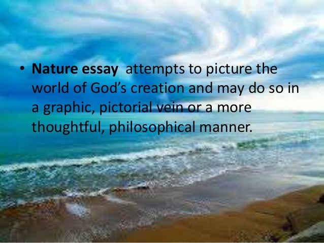 nature essay or dissertation summary