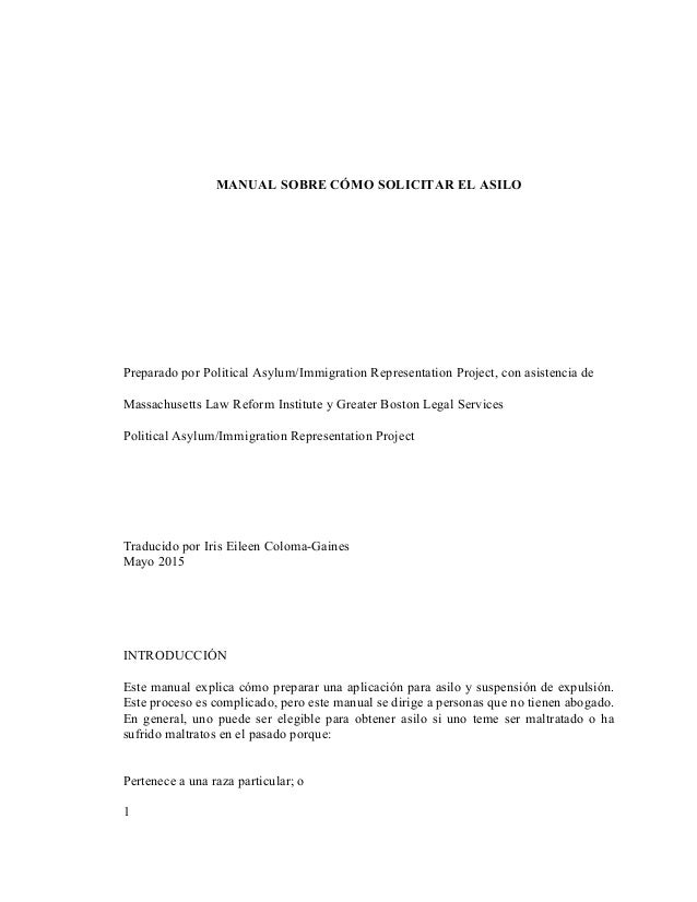 Pro Se Asylum Manual (Spanish)