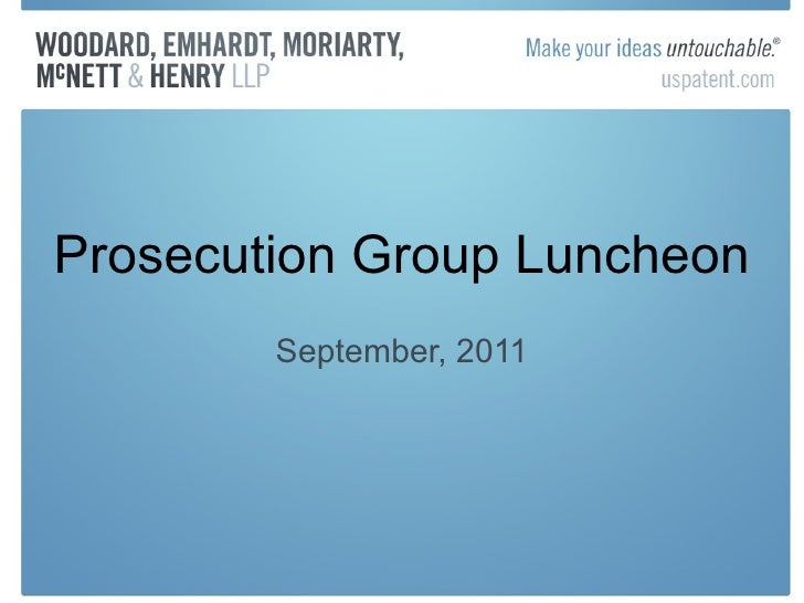 Prosecution Group Luncheon September, 2011
