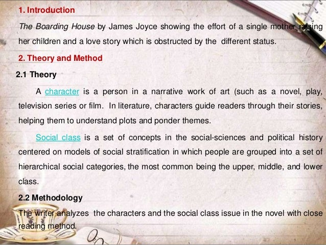 the boarding house by james joyce analysis the boarding house 3 1 introduction the boarding house by james joyce