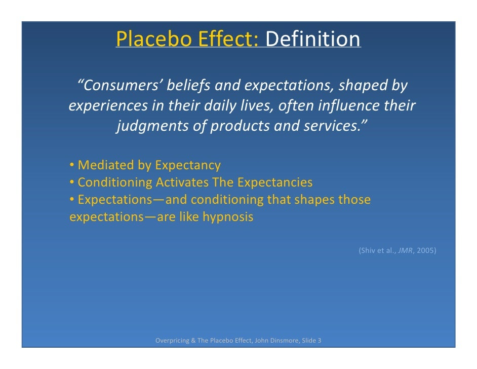 placebo effect essay example