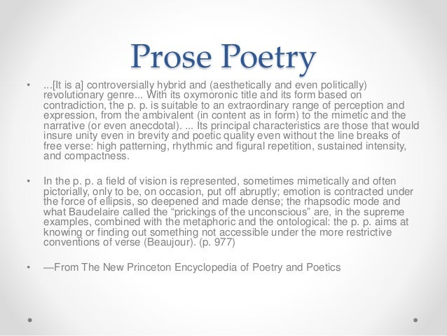 what is prose