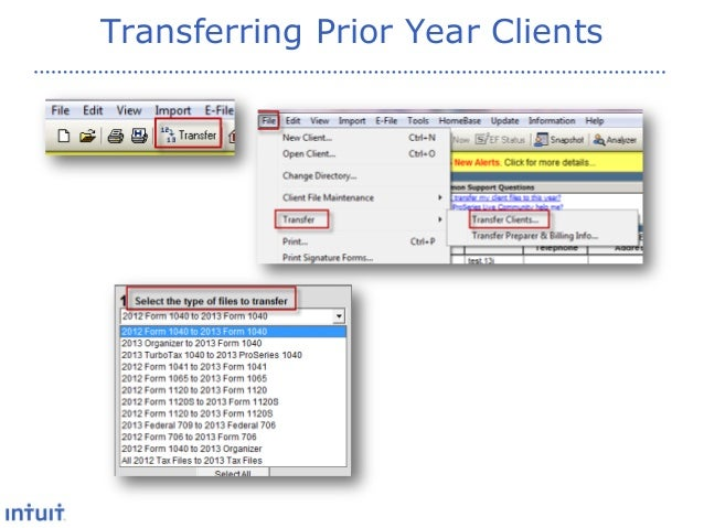 Proseries New Features For 2013 Presentation