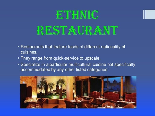 classification of restaurants essay Unlike most editing & proofreading services, we edit for everything: grammar, spelling, punctuation, idea flow, sentence structure, & more get started now.