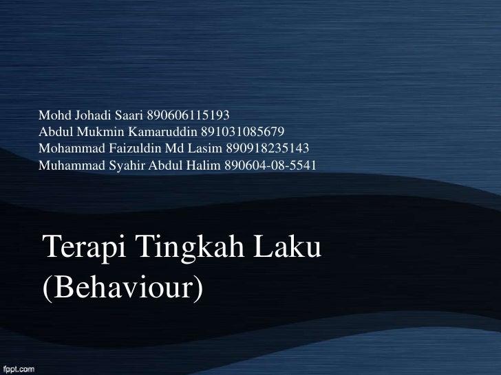 Mohd Johadi Saari 890606115193Abdul Mukmin Kamaruddin 891031085679Mohammad Faizuldin Md Lasim 890918235143Muhammad Syahir ...