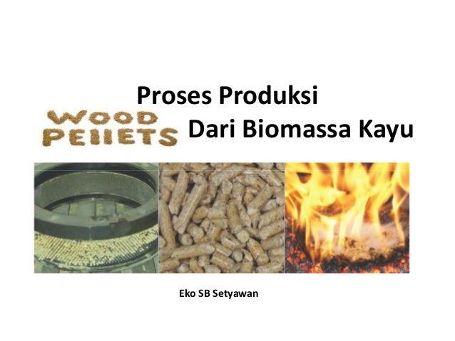 Proses Produksi Wood Pellet Dari Biomassa Kayu Eko SB Setyawan