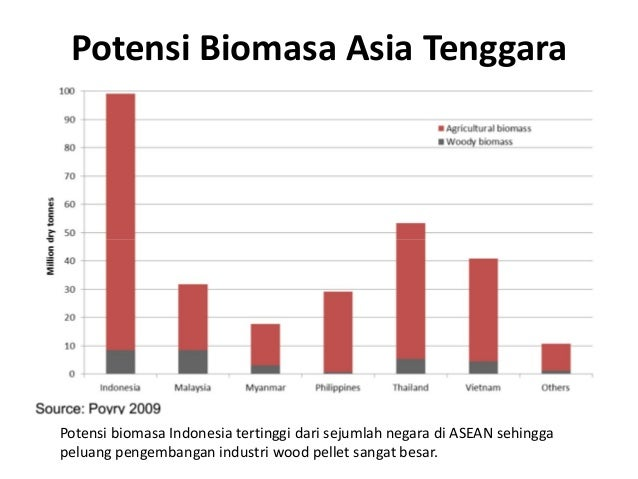 Potensi Biomasa Asia Tenggara Potensi biomasa Indonesia tertinggi dari sejumlah negara di ASEAN sehingga peluang pengemban...
