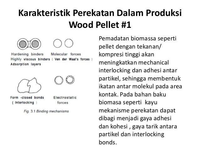 Karakteristik Perekatan Dalam Produksi Wood Pellet #1 Pemadatan biomassa seperti pellet dengan tekanan/ kompresi tinggi ak...