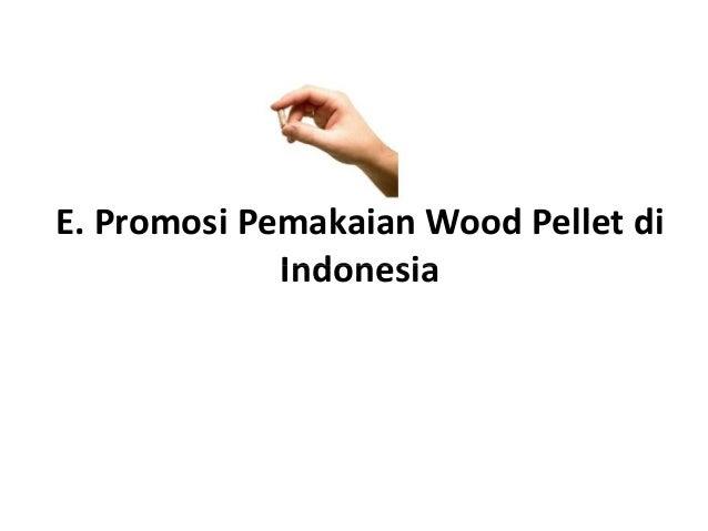 E. Promosi Pemakaian Wood Pellet di IndonesiaIndonesia