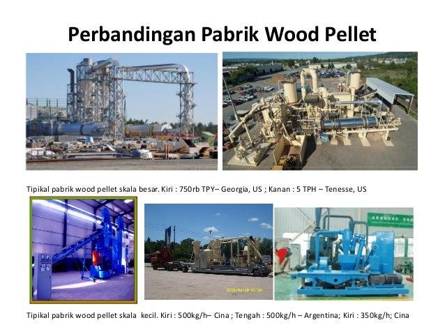 Perbandingan Pabrik Wood Pellet Tipikal pabrik wood pellet skala besar. Kiri : 750rb TPY– Georgia, US ; Kanan : 5 TPH – Te...