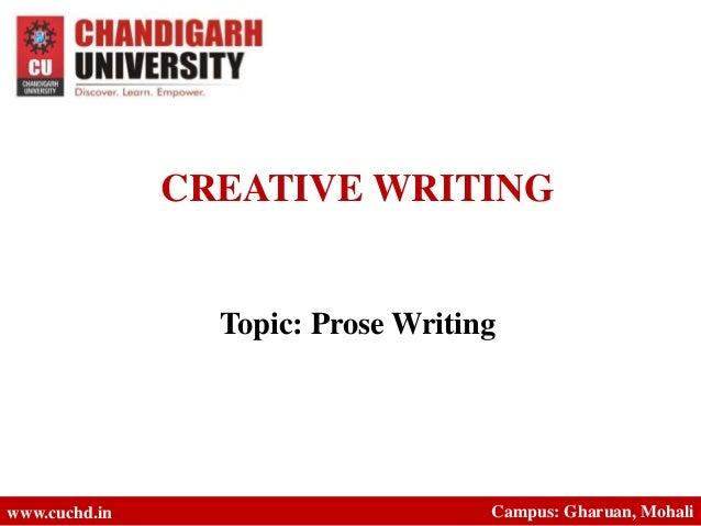 creative writing prose