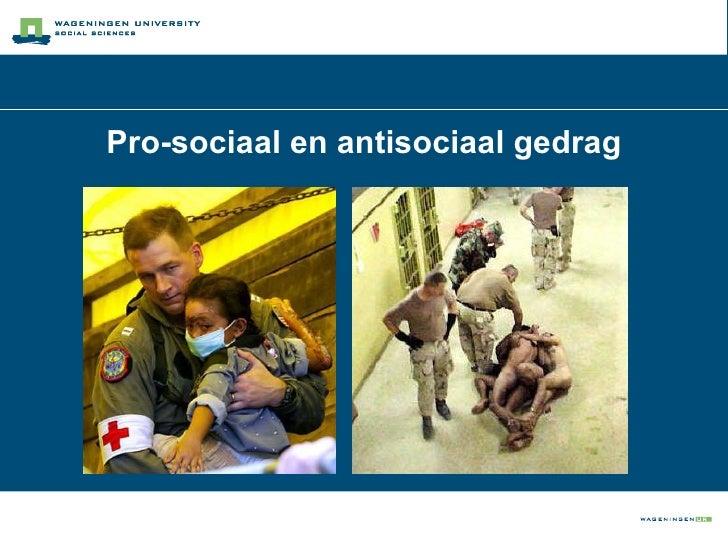 Pro-sociaal en antisociaal gedrag