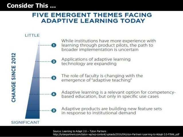 Prospect for learning analytics to achieve  adaptive learning model