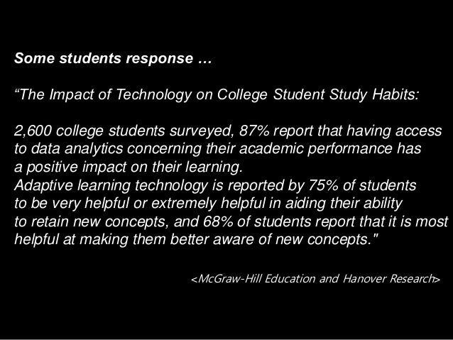 """Some students response … """"The Impact of Technology on College Student Study Habits: 2,600 college students surveyed, 87% r..."""