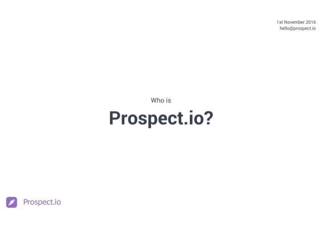 Prospect.io Culture Deck Slide 1