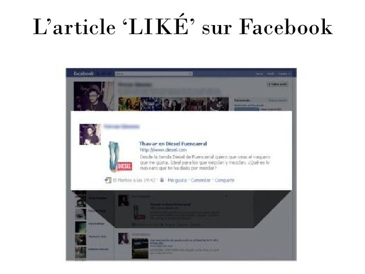 L'article 'LIKÉ' sur Facebook
