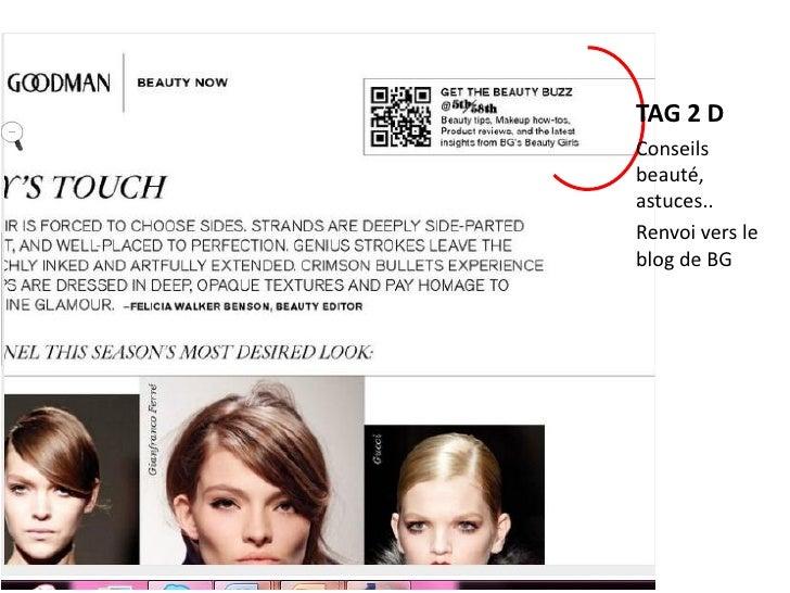 Une page du catalogue relaie vers les réseaux   sociaux  et 2 blogs