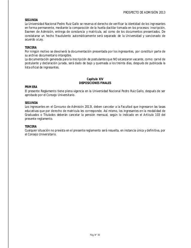 PROSPECTO DE ADMISIÓN 2013 Pág. N° 32 DESCRIPCIÓN DE LAS CARRERAS PROFESIONALES ADMINISTRACIÓN 1. PERFIL DEL INGRESANTE a....