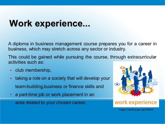 Prospect Of Diploma In Business Management