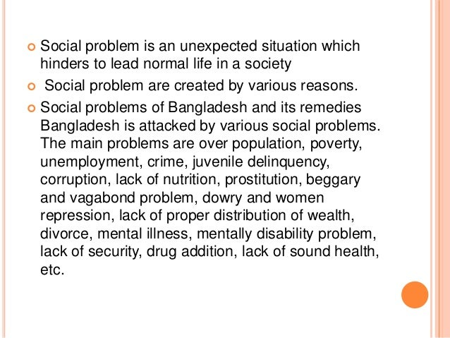 social problems in bangladesh 2017