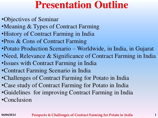 Prospects Amp Challenges Of Contract Farming For Potato In