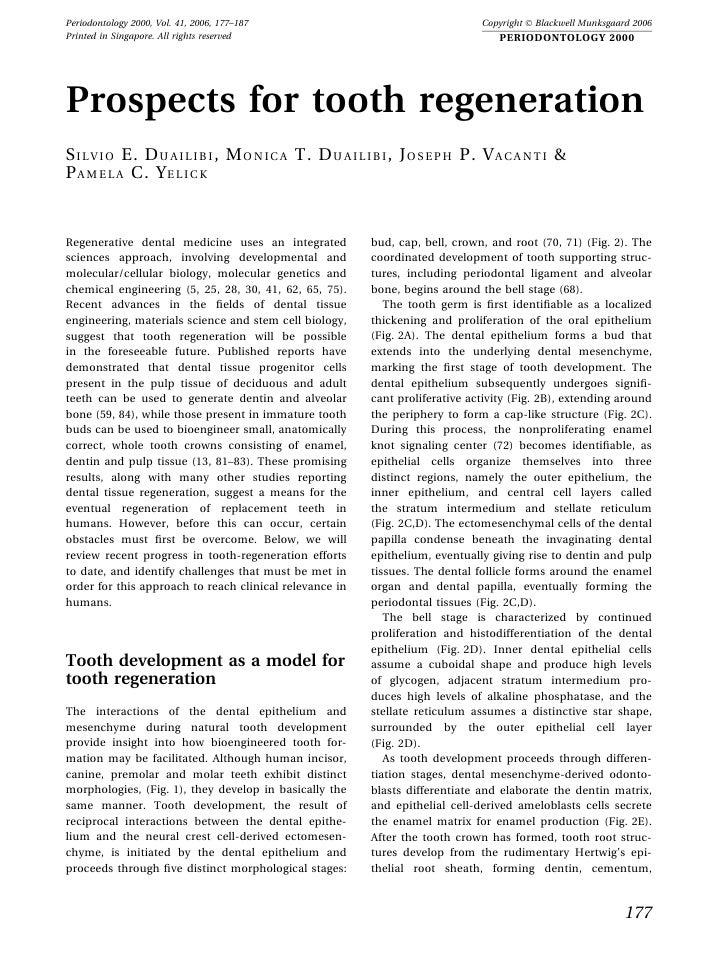 Periodontology 2000, Vol. 41, 2006, 177–187                                    Copyright Ó Blackwell Munksgaard 2006 Print...