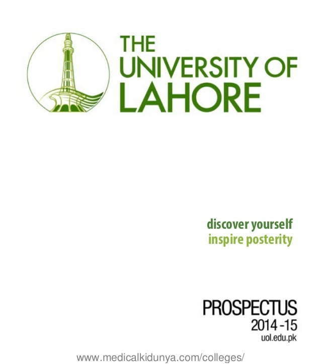 Prospectus 2014 the university of lahore discover yourself inspire posterity medicalkidunyacolleges fandeluxe Image collections