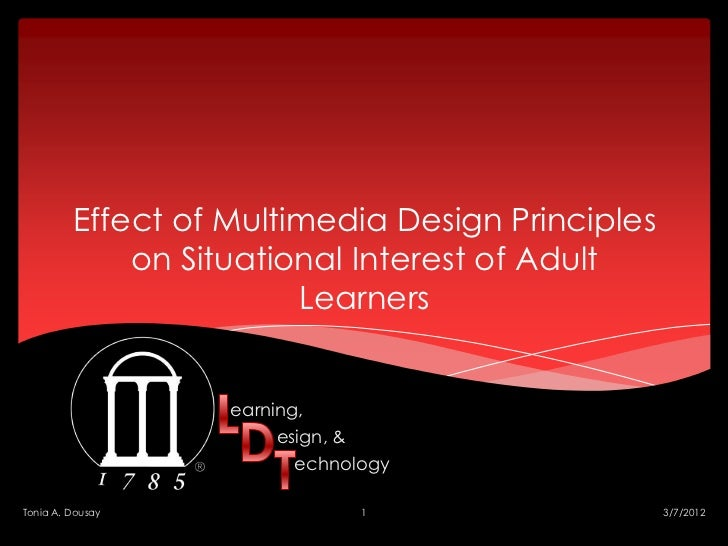 Effect of Multimedia Design Principles             on Situational Interest of Adult                        Learners       ...