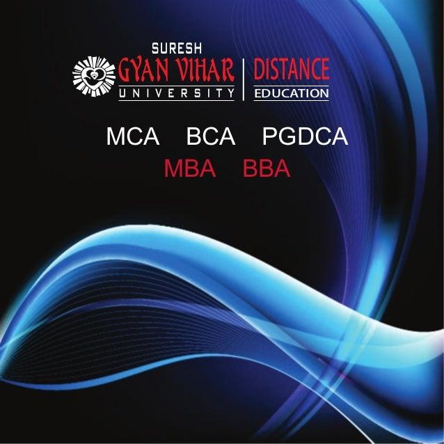DISTANCE EDUCATION MCA BCA PGDCA MBA BBA
