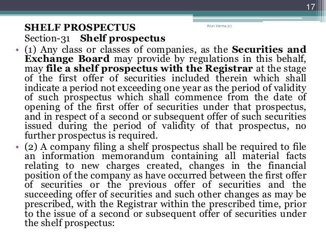 what is shelf prospectus