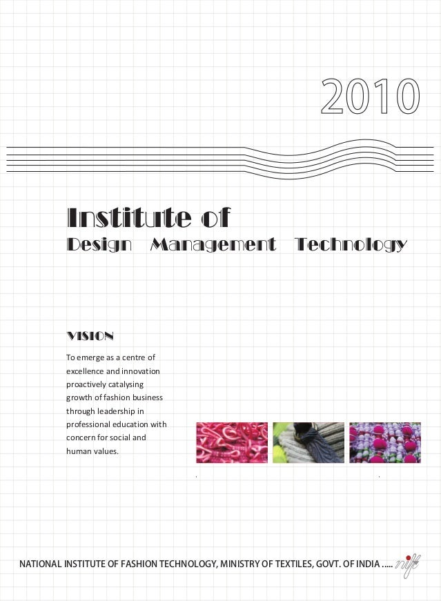 2010          Institute of          Design                Management                   Technology          VISION         ...