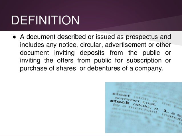 Presentation on Company Prospectus by Shwetang Panchal Slide 3
