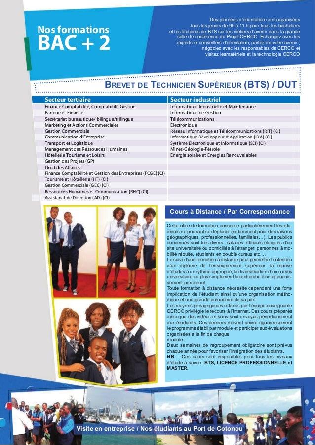 Nos formationsBAC + 2Secteur tertiaire Secteur industrielFinance Comptabilité, Comptabilité Gestion Informatique Industrie...